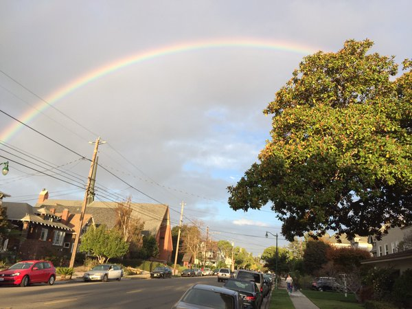 "<div class=""meta image-caption""><div class=""origin-logo origin-image none""><span>none</span></div><span class=""caption-text"">A rainbow is seen in Alameda, Calif. on Wednesday, October 28, 2015. (Photo submitted to KGO-TV by Jay Cooke/Twitter)</span></div>"
