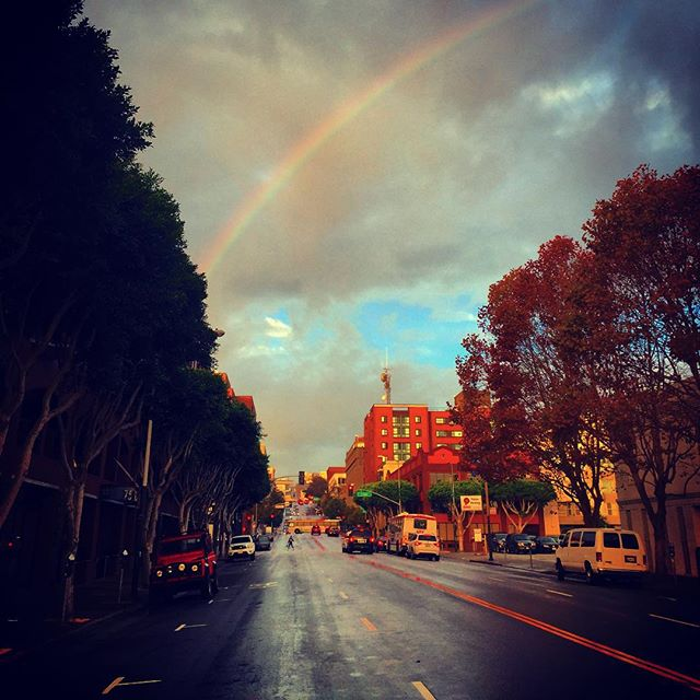 "<div class=""meta image-caption""><div class=""origin-logo origin-image none""><span>none</span></div><span class=""caption-text"">A rainbow is spotted in San Francisco, Calif. on Wednesday, October 28, 2015. (Photo submitted to KGO-TV by Hugo Velasquez/Instagram)</span></div>"