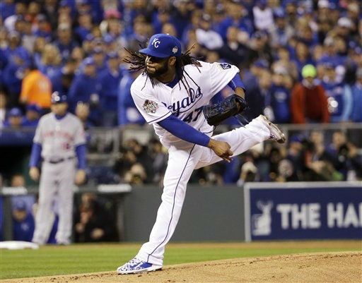 "<div class=""meta image-caption""><div class=""origin-logo origin-image none""><span>none</span></div><span class=""caption-text"">Kansas City Royals pitcher Johnny Cueto throws during the first inning of Game 2. (AP Photo/ David J. Phillip)</span></div>"