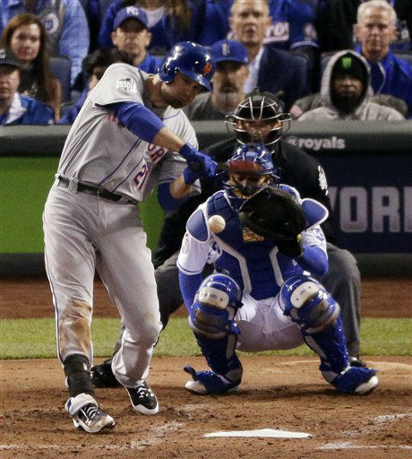 "<div class=""meta image-caption""><div class=""origin-logo origin-image none""><span>none</span></div><span class=""caption-text"">New York Mets' Lucas Duda hits RBI single against the Kansas City Royals during the fourth inning of Game 2. (AP Photo/ Charlie Riedel)</span></div>"