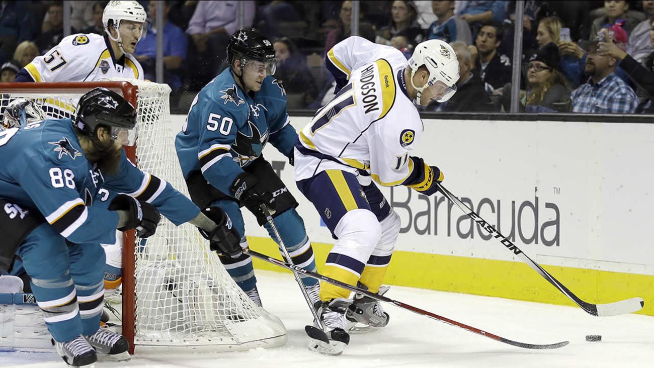 San Jose Sharks' Brent Burns