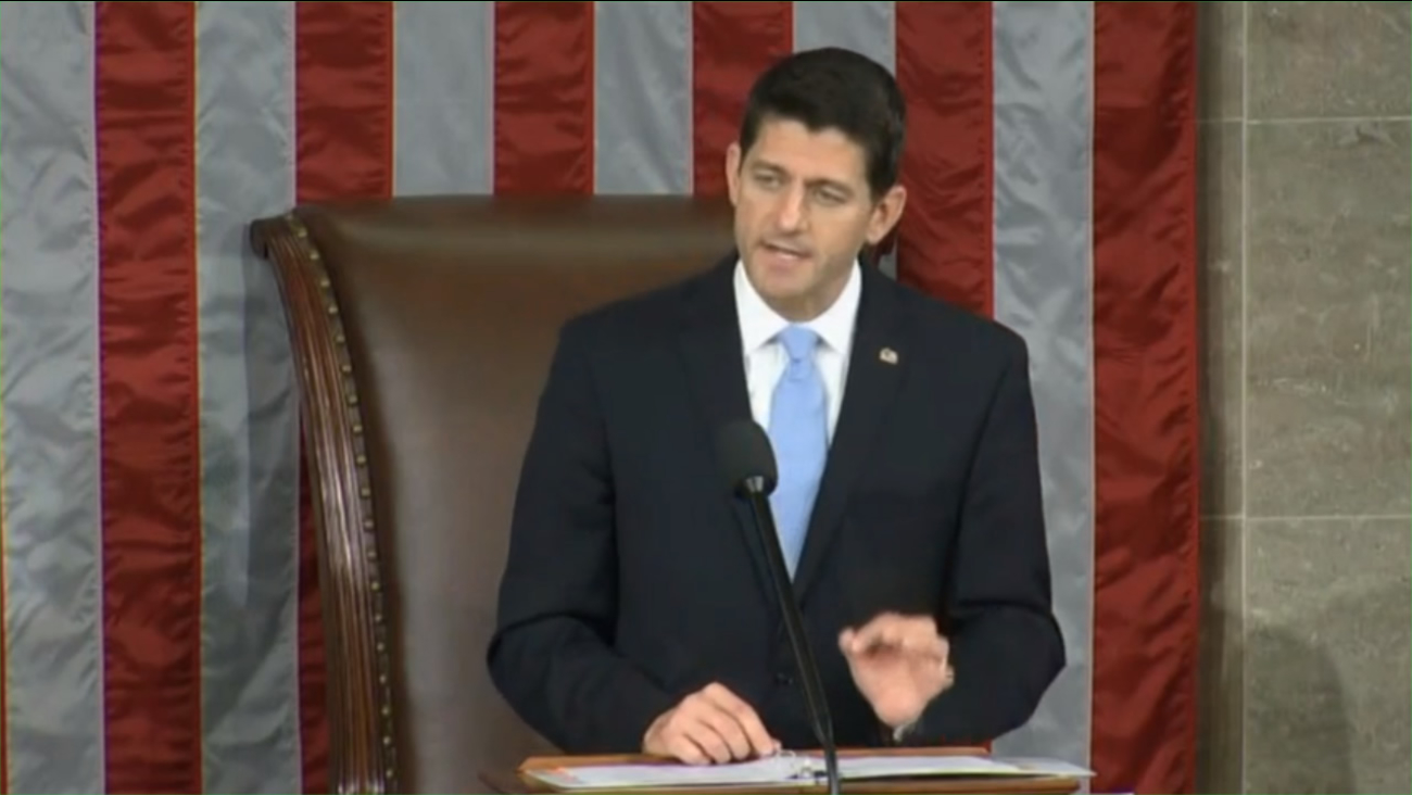 Paul Ryan in his first address to the House of  Representatives after being elected Speaker of the House on Thursday, October 29, 2015, in Washington, DC.