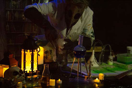 "<div class=""meta image-caption""><div class=""origin-logo origin-image none""><span>none</span></div><span class=""caption-text"">A spooky scene from one of the homemade haunted houses created by an Austin couple at their home (KTRK Photo/ Matthew and Sarah Haley)</span></div>"