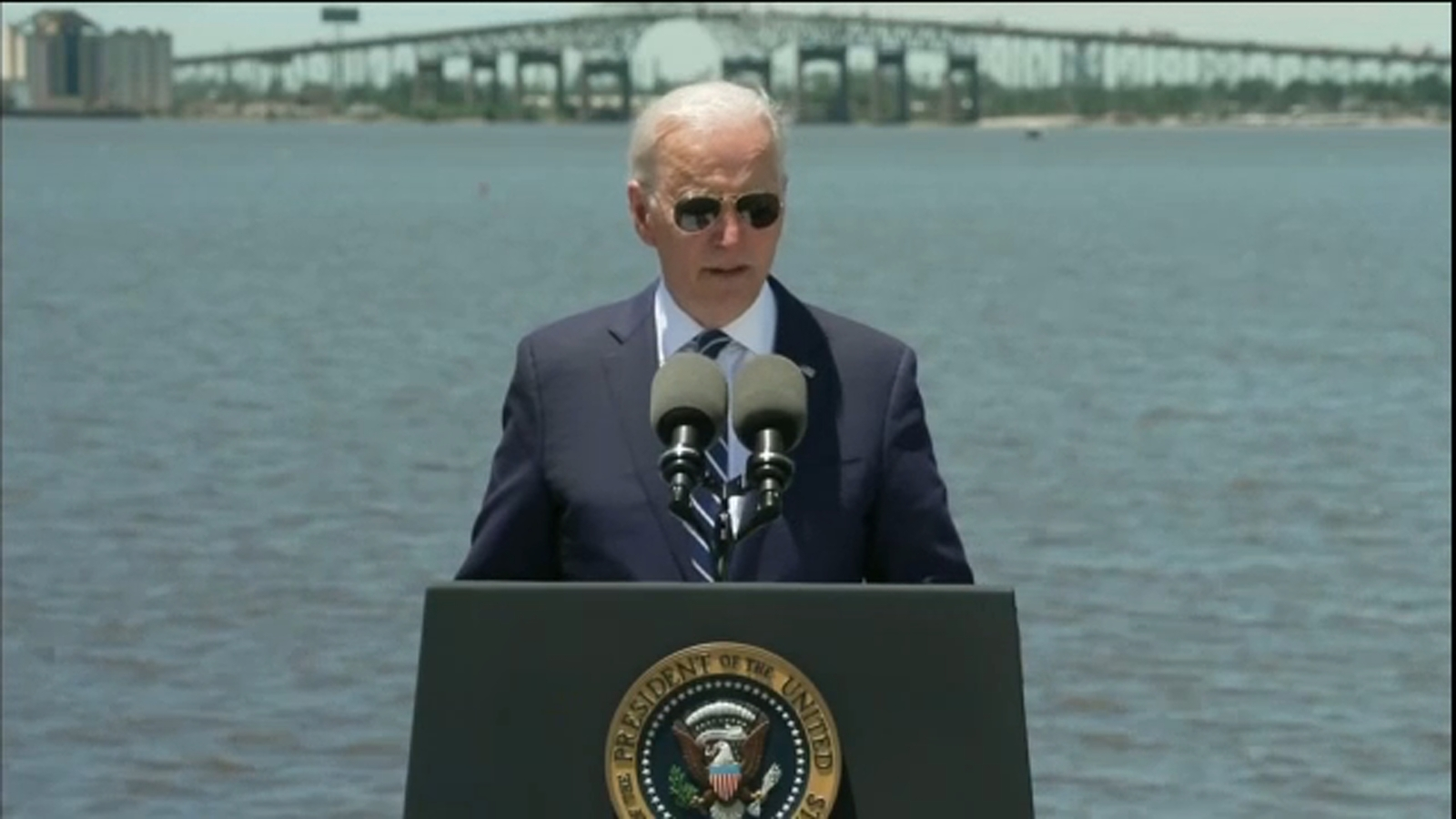 Biden touts big infrastructure plan in GOP stronghold of Louisiana
