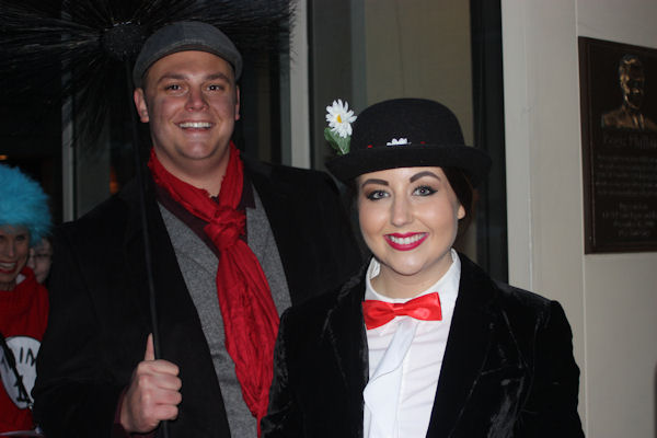 "<div class=""meta image-caption""><div class=""origin-logo origin-image none""><span>none</span></div><span class=""caption-text"">Audience members dress as Mary Poppins and her friend Bert for the ''LIVE with Kelly and Michael'' Halloween costume contest. (Bob Monek. Eyewitness News)</span></div>"