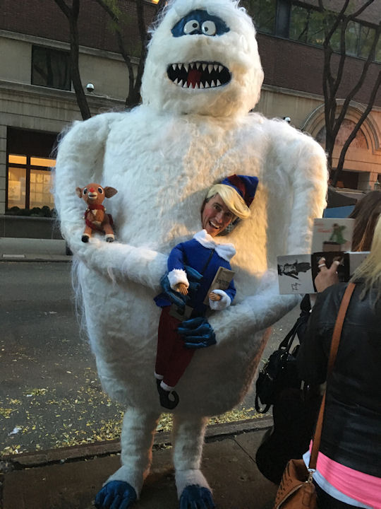 "<div class=""meta image-caption""><div class=""origin-logo origin-image none""><span>none</span></div><span class=""caption-text"">Marc Dallmer dresses as a 9-foot-tall Abominable Snowman for the ''LIVE with Kelly and Michael'' Halloween costume contest. (Bob Monek. Eyewitness News)</span></div>"