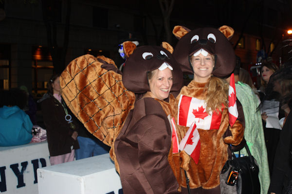 "<div class=""meta image-caption""><div class=""origin-logo origin-image none""><span>none</span></div><span class=""caption-text"">Cathy and Michaela Sceli dress as Canadian beavers for the ''LIVE with Kelly and Michael'' costume contest. (Bob Monek. Eyewitness News)</span></div>"