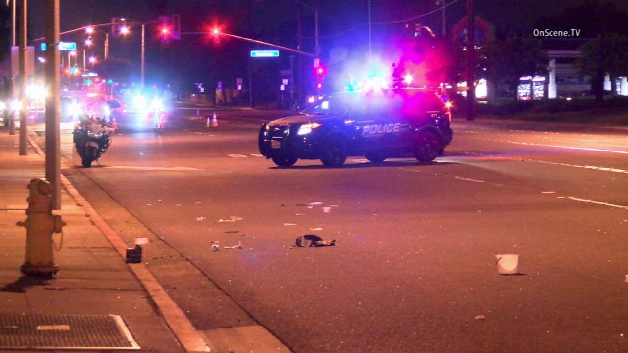 Westminster police investigate a fatal hit-and-run near Magnolia Street and Westminster Boulevard on Thursday, Oct. 29, 2015.