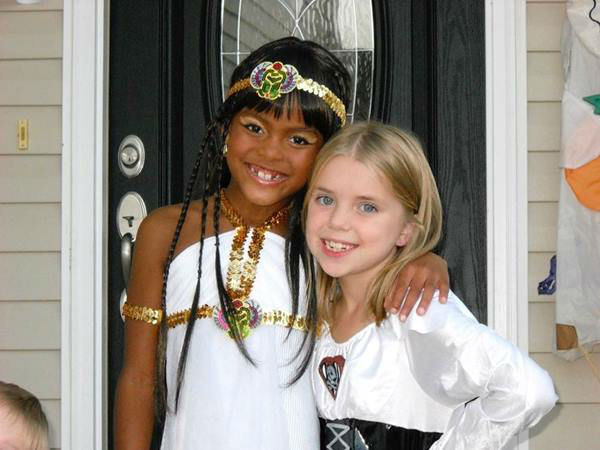 <div class='meta'><div class='origin-logo' data-origin='none'></div><span class='caption-text' data-credit='WTVD Photo/ Tisha Powell'>Nina and a friend on Halloween</span></div>