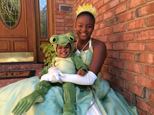 <div class='meta'><div class='origin-logo' data-origin='none'></div><span class='caption-text' data-credit='WTVD Photo/ Tisha Powell'>The big reveal! Nina and Eva's costume for Halloween 2015</span></div>