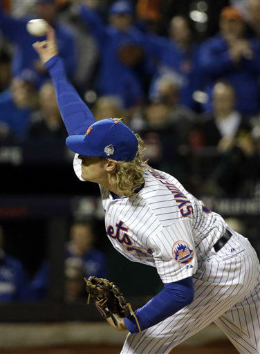 "<div class=""meta image-caption""><div class=""origin-logo origin-image none""><span>none</span></div><span class=""caption-text"">New York Mets pitcher Noah Syndergaard throws during the first inning of Game 3. (AP Photo/ David J. Phillip)</span></div>"
