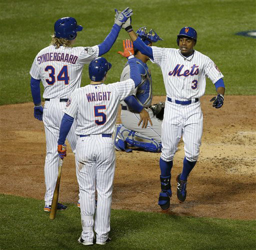 "<div class=""meta image-caption""><div class=""origin-logo origin-image none""><span>none</span></div><span class=""caption-text"">New York Mets' Curtis Granderson celebrates after hitting a two-run home run. (AP Photo/ Frank Franklin II)</span></div>"