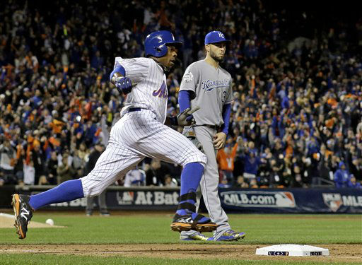 "<div class=""meta image-caption""><div class=""origin-logo origin-image none""><span>none</span></div><span class=""caption-text"">New York Mets' Curtis Granderson rounds the bases after hitting a two-run home run during the third inning of Game 3. (AP Photo/ David J. Phillip)</span></div>"