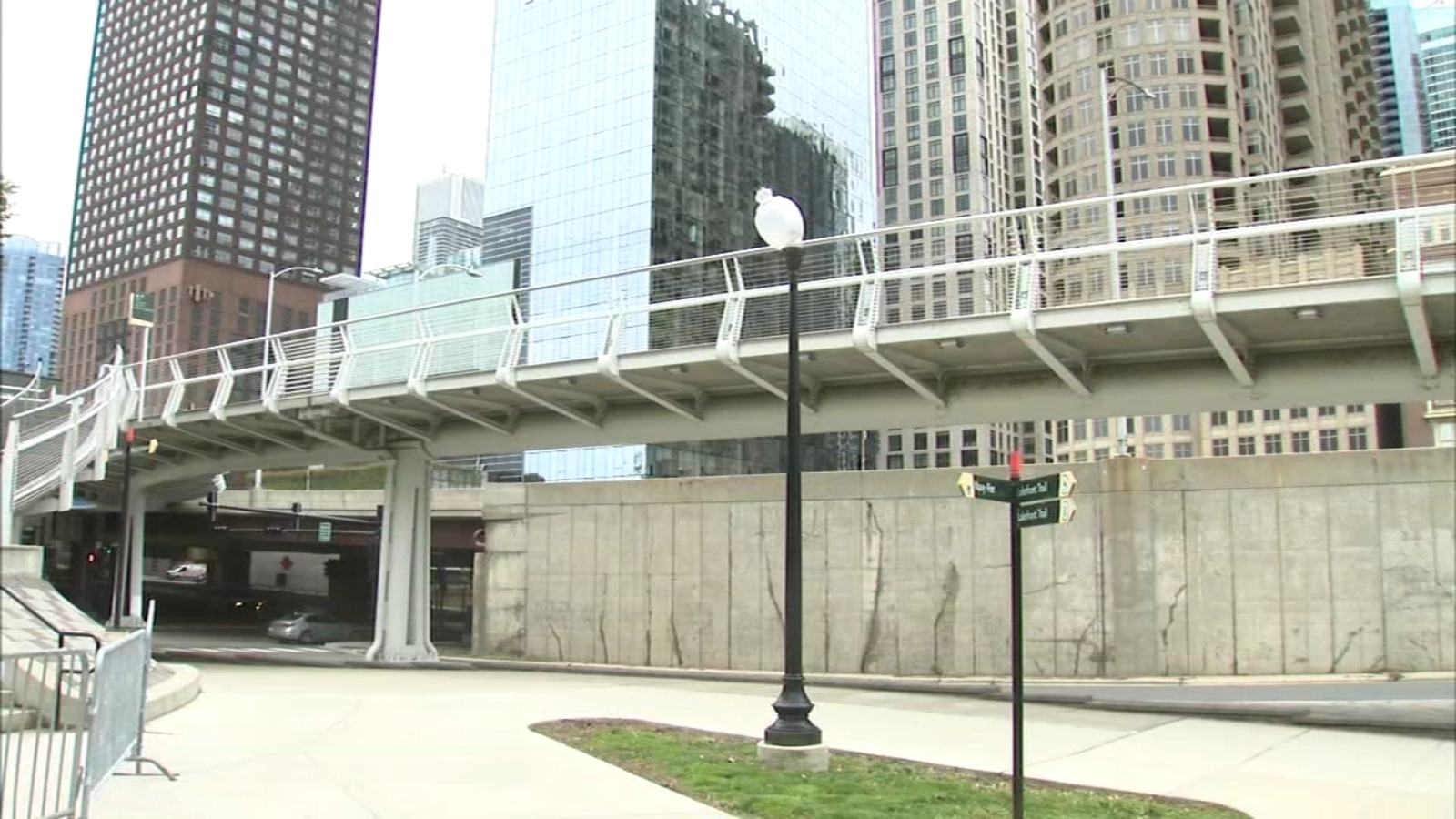 Mayor Lori Lightfoot cuts ribbon at newly completed Navy Pier Flyover Project that connects city