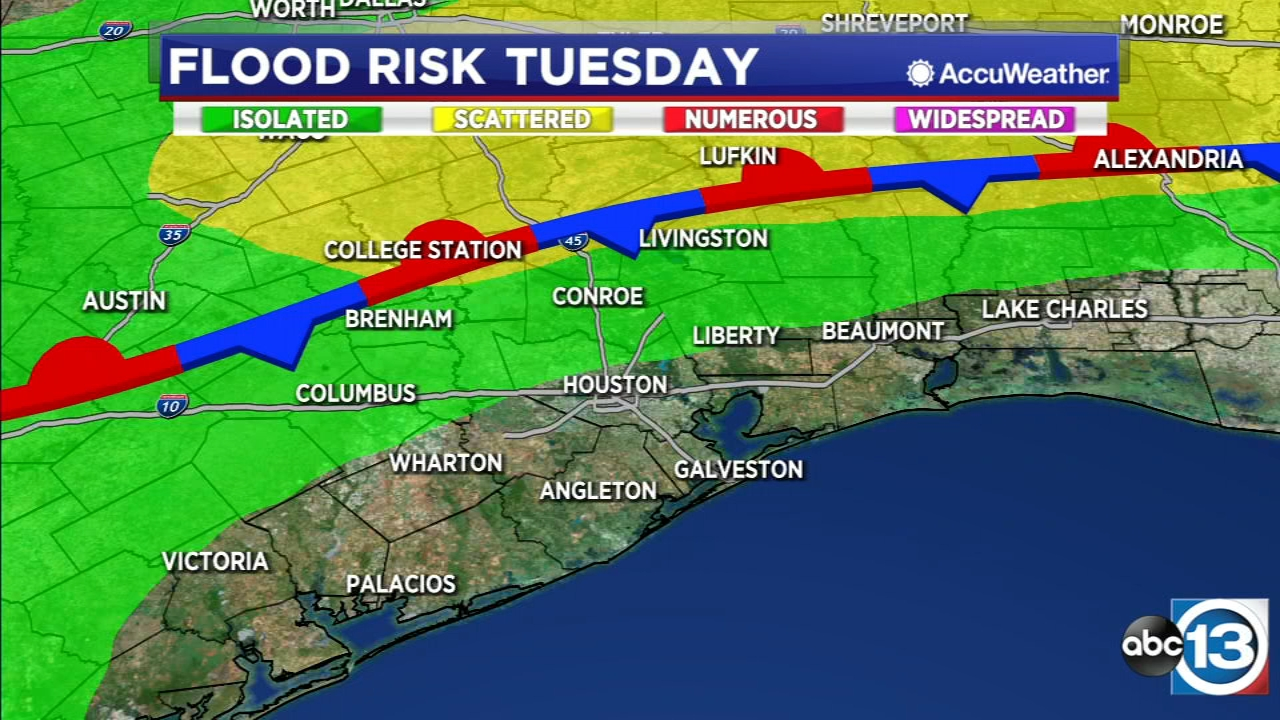 Thunderstorm chance increases Tuesday into Wednesday