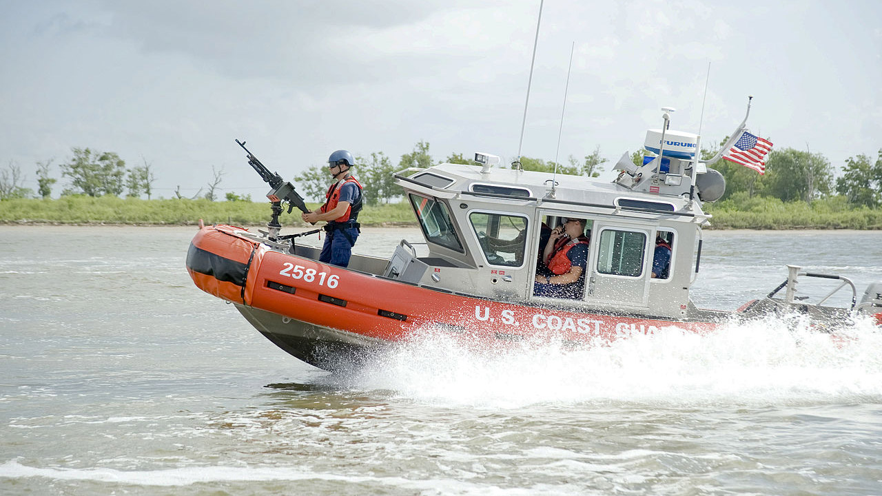 U.S. Coast Guard boat