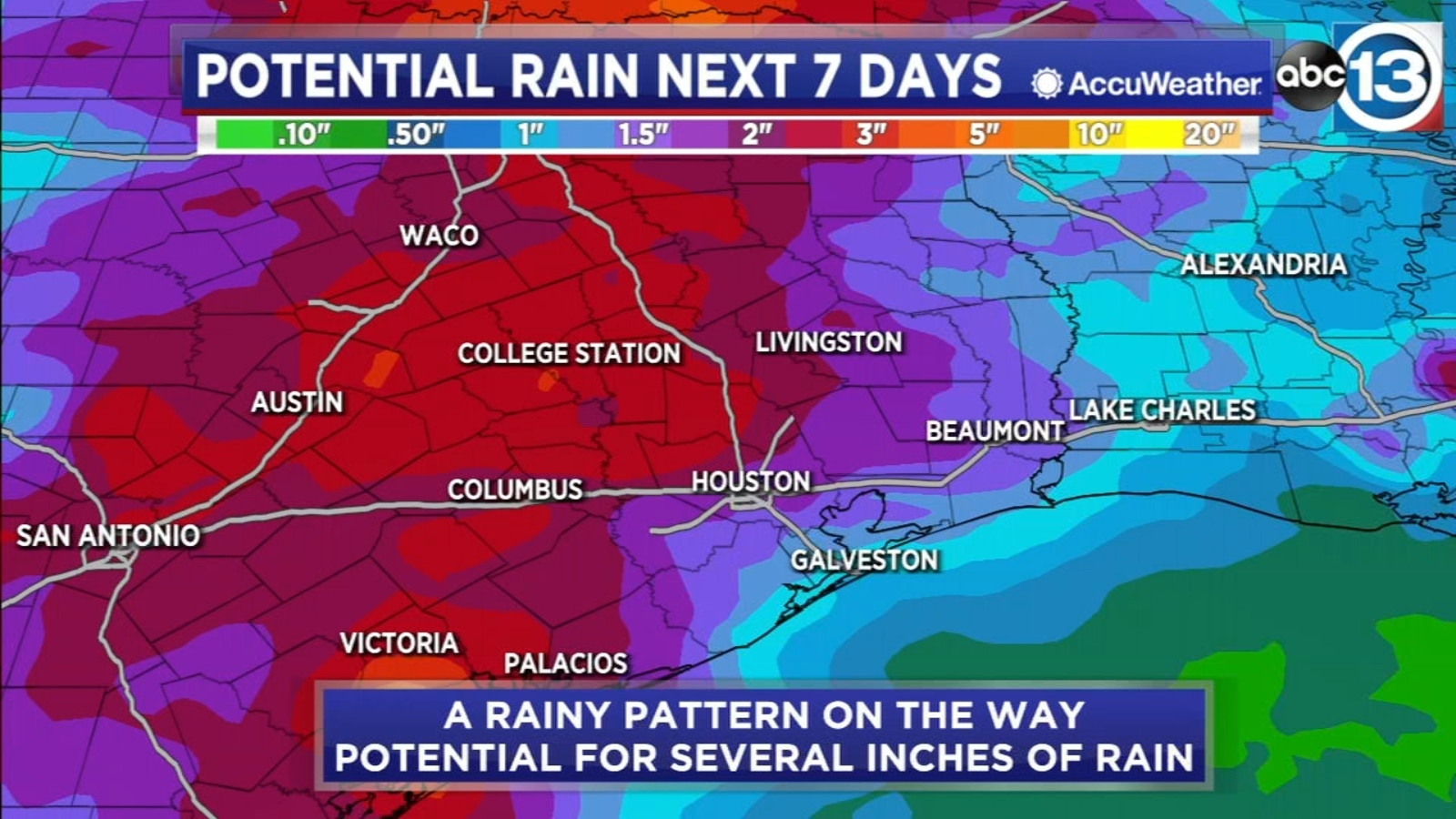 Enjoy the dry weather because it all changes this weekend