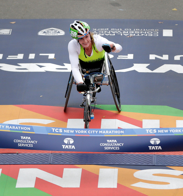 new york city marathon women's wheelchair winner tatyana mcfadden