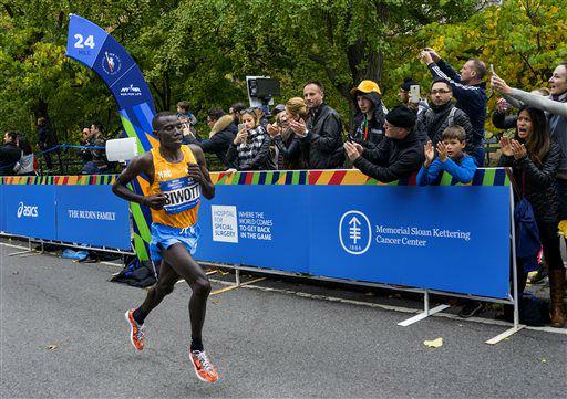 "<div class=""meta image-caption""><div class=""origin-logo origin-image none""><span>none</span></div><span class=""caption-text"">Stanley Biwott of Kenya leads the New York City Marathon at mile 24 in New York Sunday, Nov. 1, 2015. Biwott went on to win. (AP Photo/ Craig Ruttle)</span></div>"