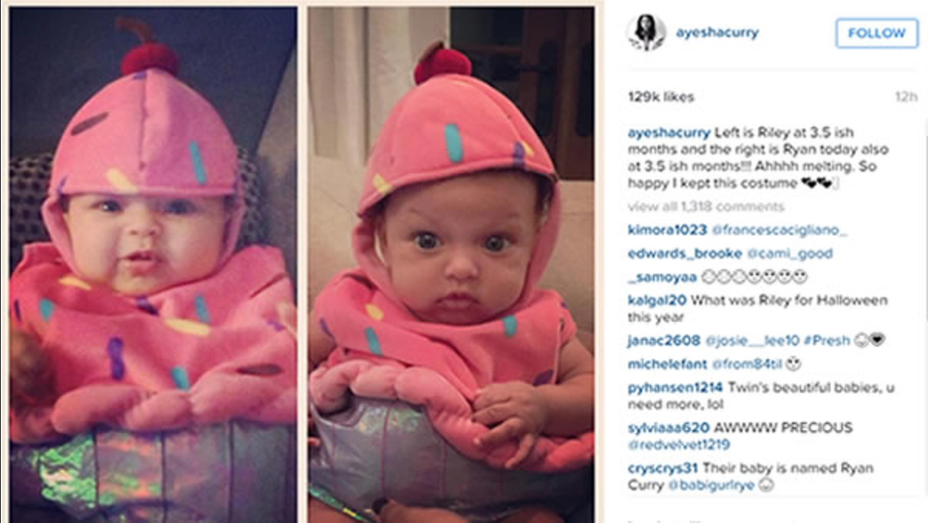 Ayesha Curry shared this adorable family photo on her Instagram page on Saturday, October 31, 2015.