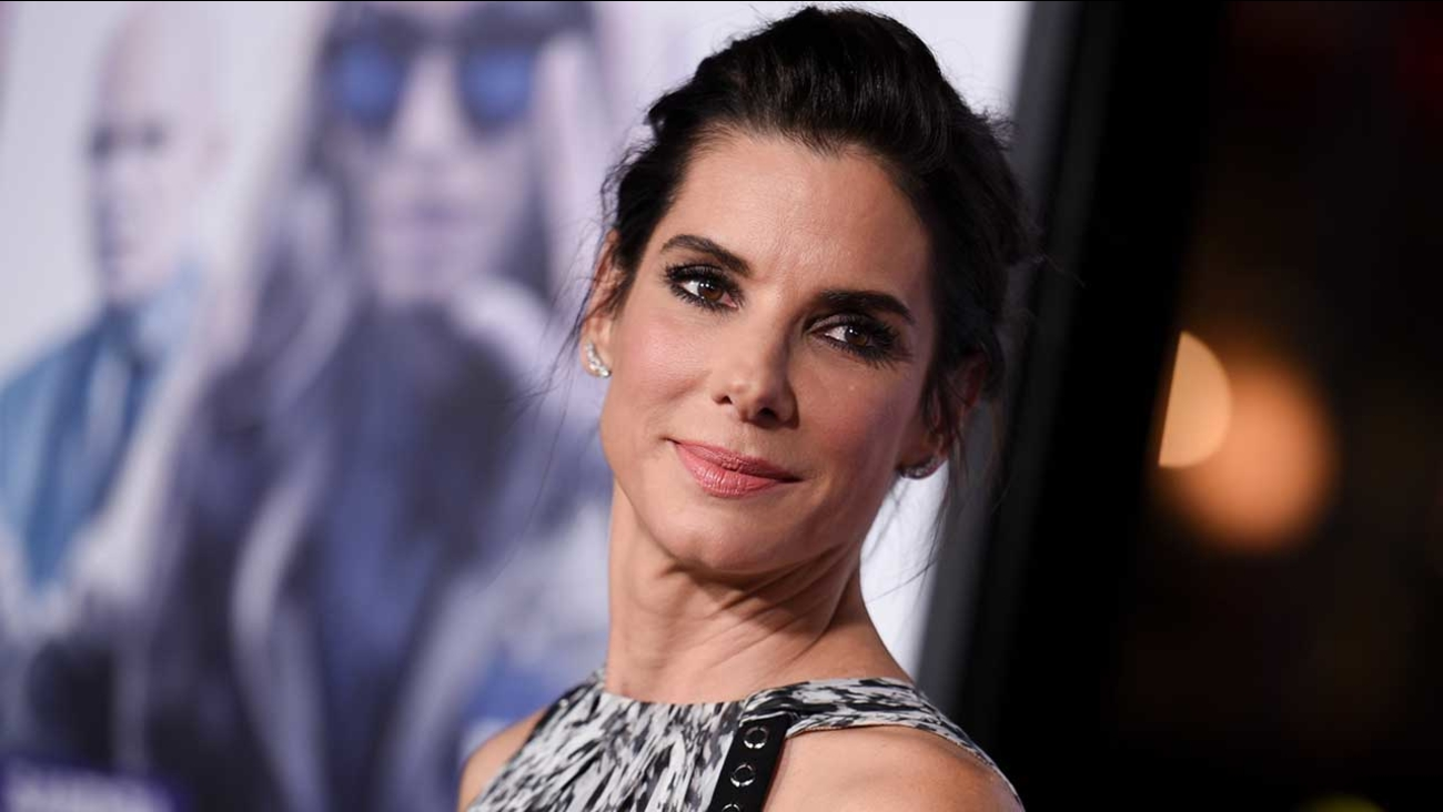 """Actress Sandra Bullock arrives at the LA Premiere of """"Our Brand is Crisis"""" held at the TCL Chinese Theatre on Monday Oct. 26, 2015, in Los Angeles."""