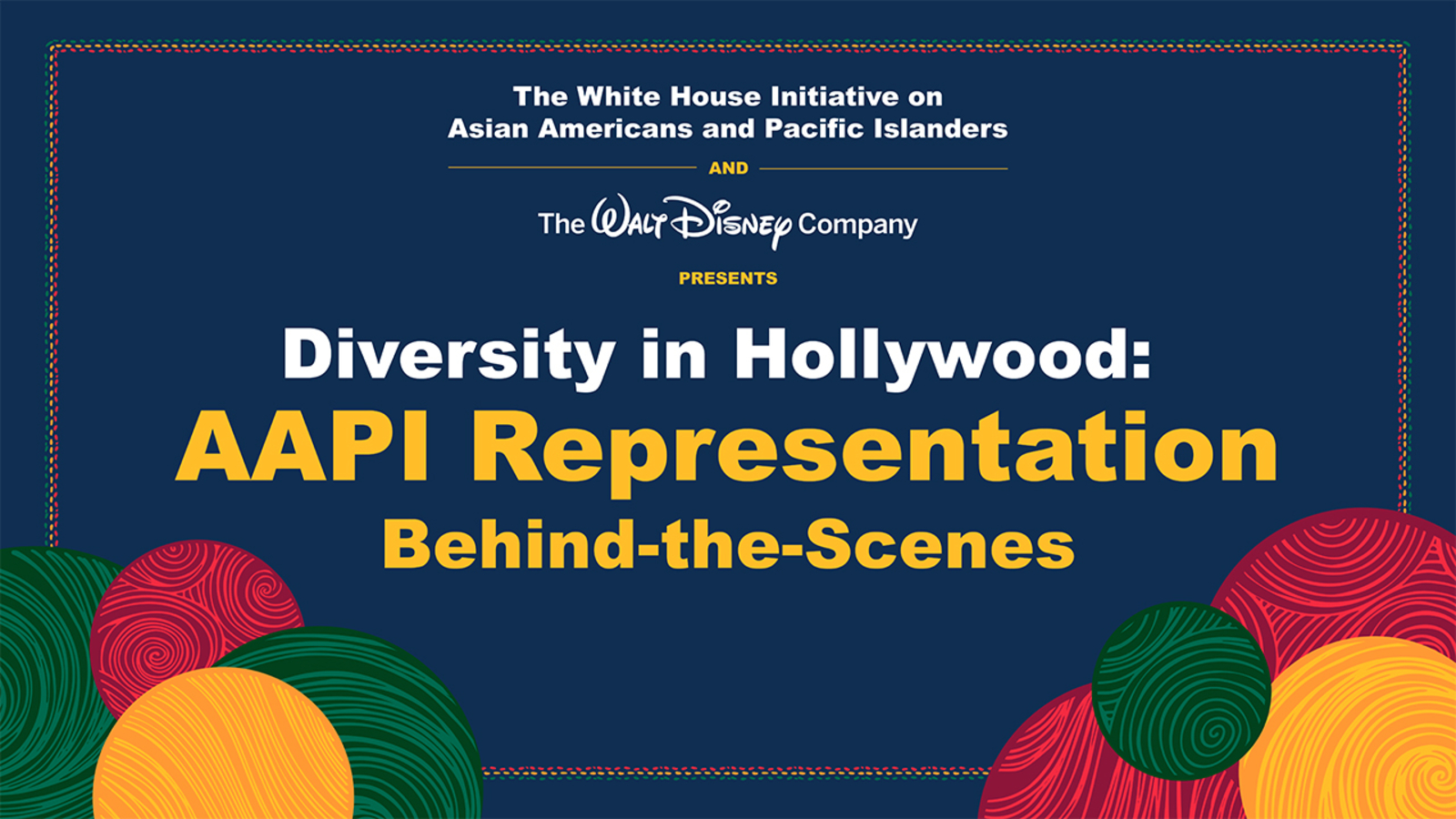 Disney, White House to co-host panel discussion on Asian American representation in Hollywood