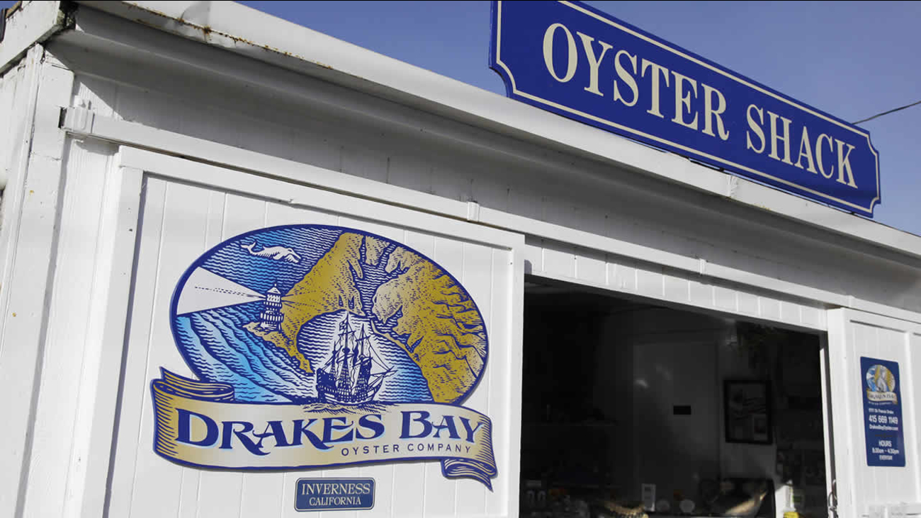 In this photo taken Nov. 21, 2012, is the exterior of an oyster shack is shown at the Drakes Bay Oyster Company in Point Reyes National Seashore, Calif. (AP Photo/Eric Risberg)