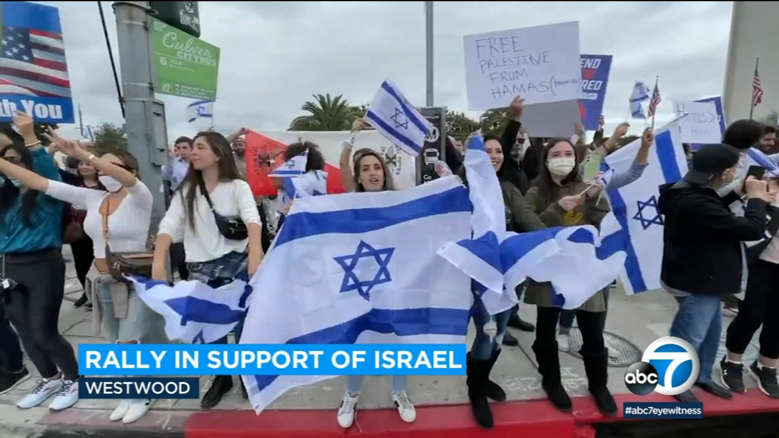 Demonstration held in Westwood to show support for Israel