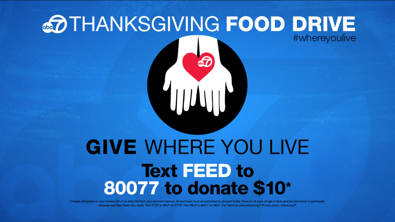 ABC7 Give Where You Live Thanksgiving Food Drive