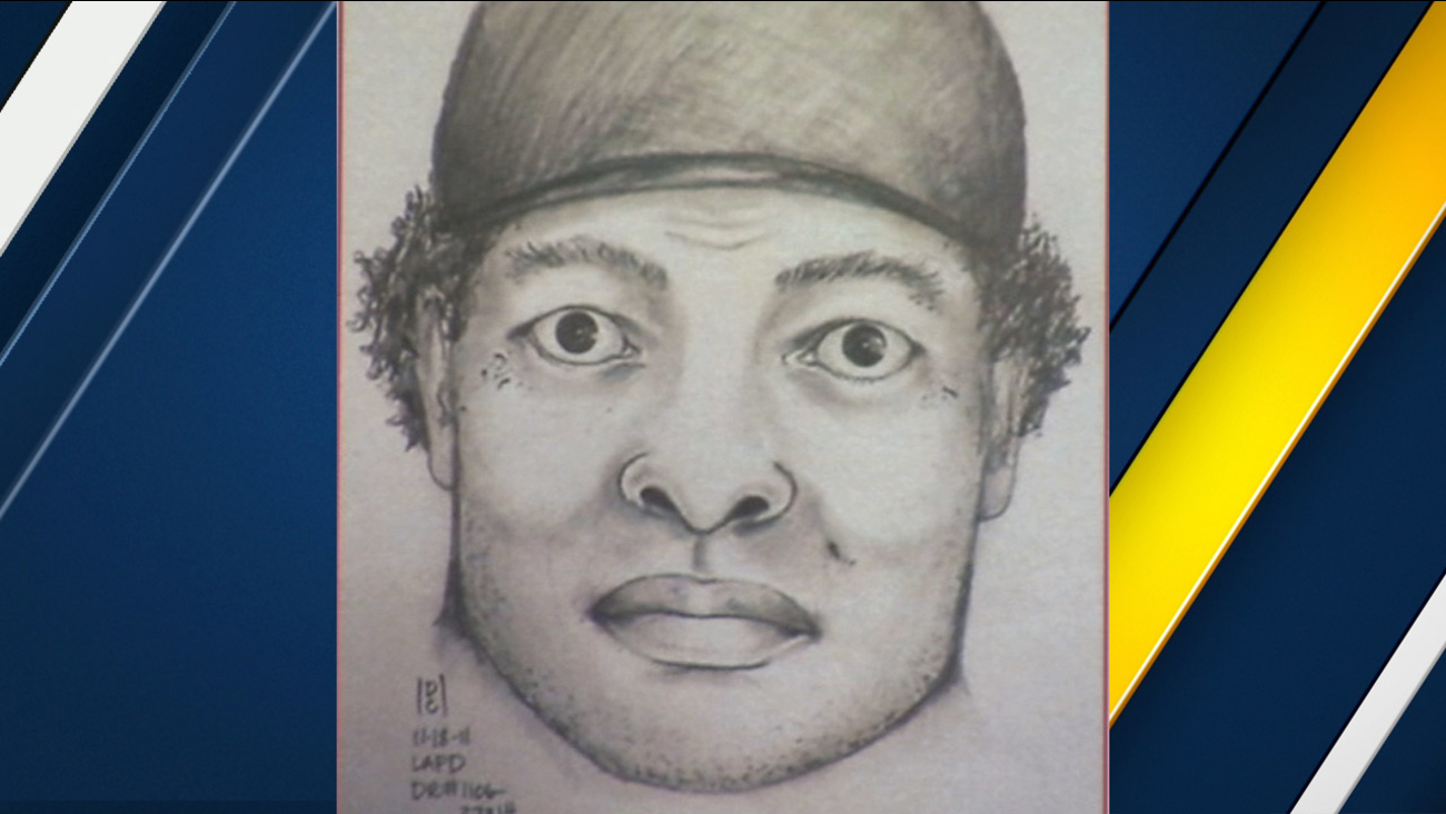 A police sketch of the Western Bandit suspect is shown in an undated photo.