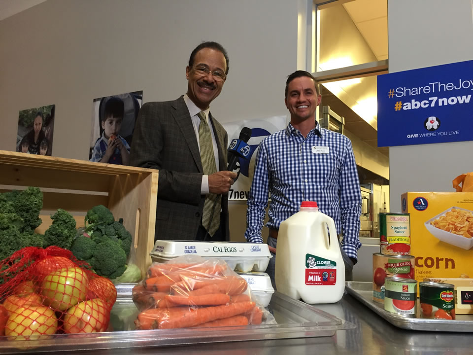 "<div class=""meta image-caption""><div class=""origin-logo origin-image none""><span>none</span></div><span class=""caption-text"">ABC7 Weather Anchor Spencer Christian and Redwood Empire Food Bank Program Officer Billy Bartz are seen at the nonprofit in Santa Rosa, Calif. on Monday, November 2, 2015. (KGO-TV)</span></div>"