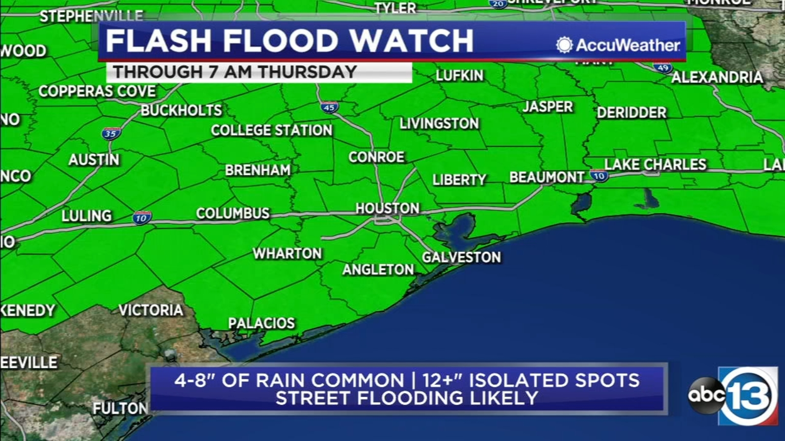 Flash Flood Watch: Here's how much rain you could get