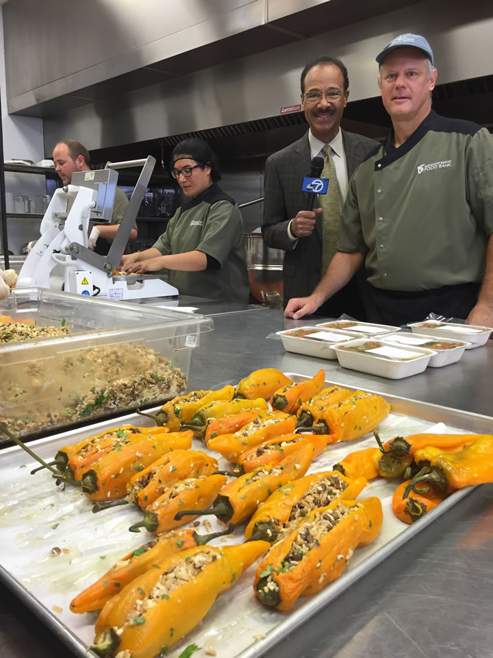 "<div class=""meta image-caption""><div class=""origin-logo origin-image none""><span>none</span></div><span class=""caption-text"">ABC7 News Weather Anchor Spencer Christian and Chef Don Nolan are seen at Redwood Empire Food Bank in Santa Rosa, Calif. on Monday, November 2, 2015. (KGO-TV)</span></div>"