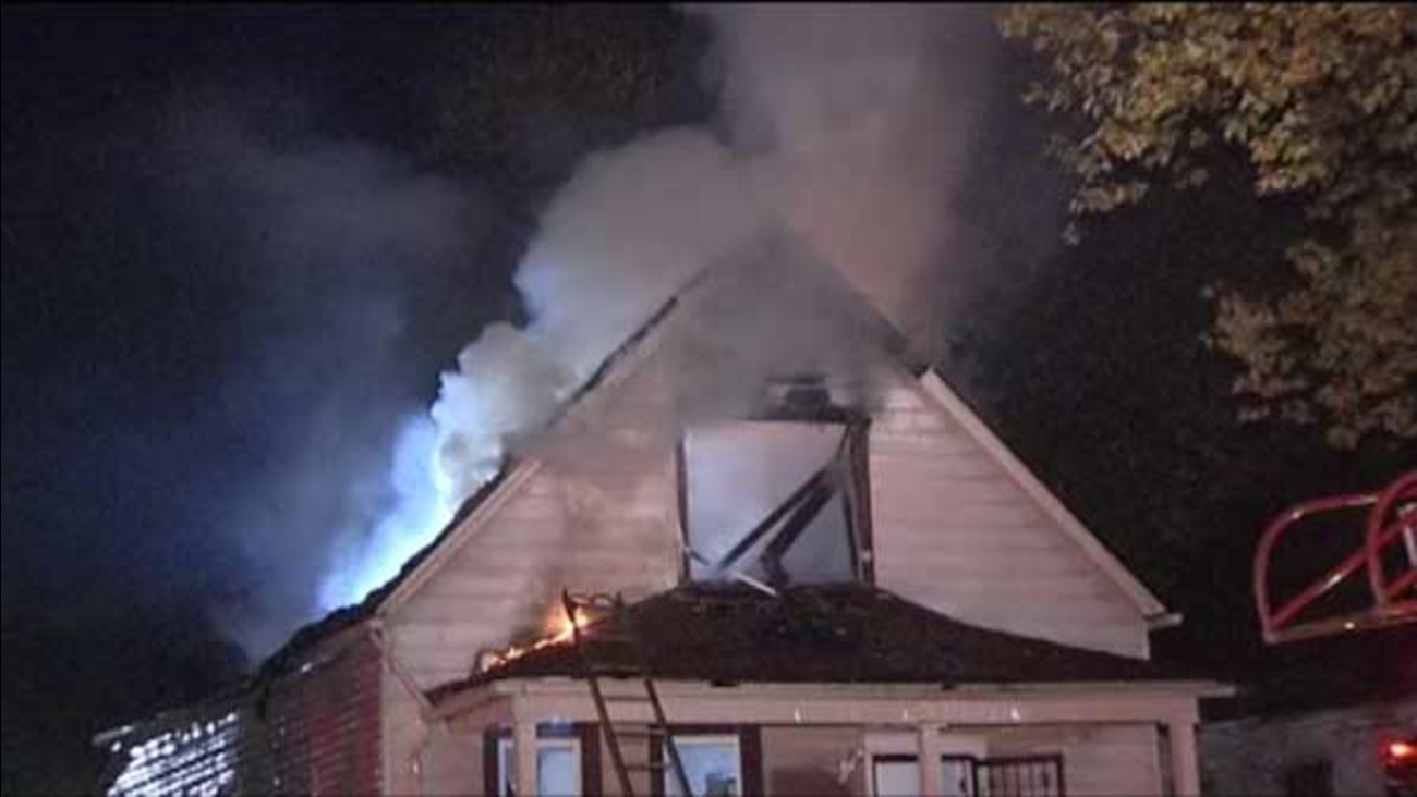 A firefighter was injured trying to put out a house fire on Chicago's Far South Side.