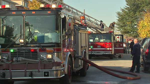 Two people were injured in a fire on Chicago's Southwest Side.