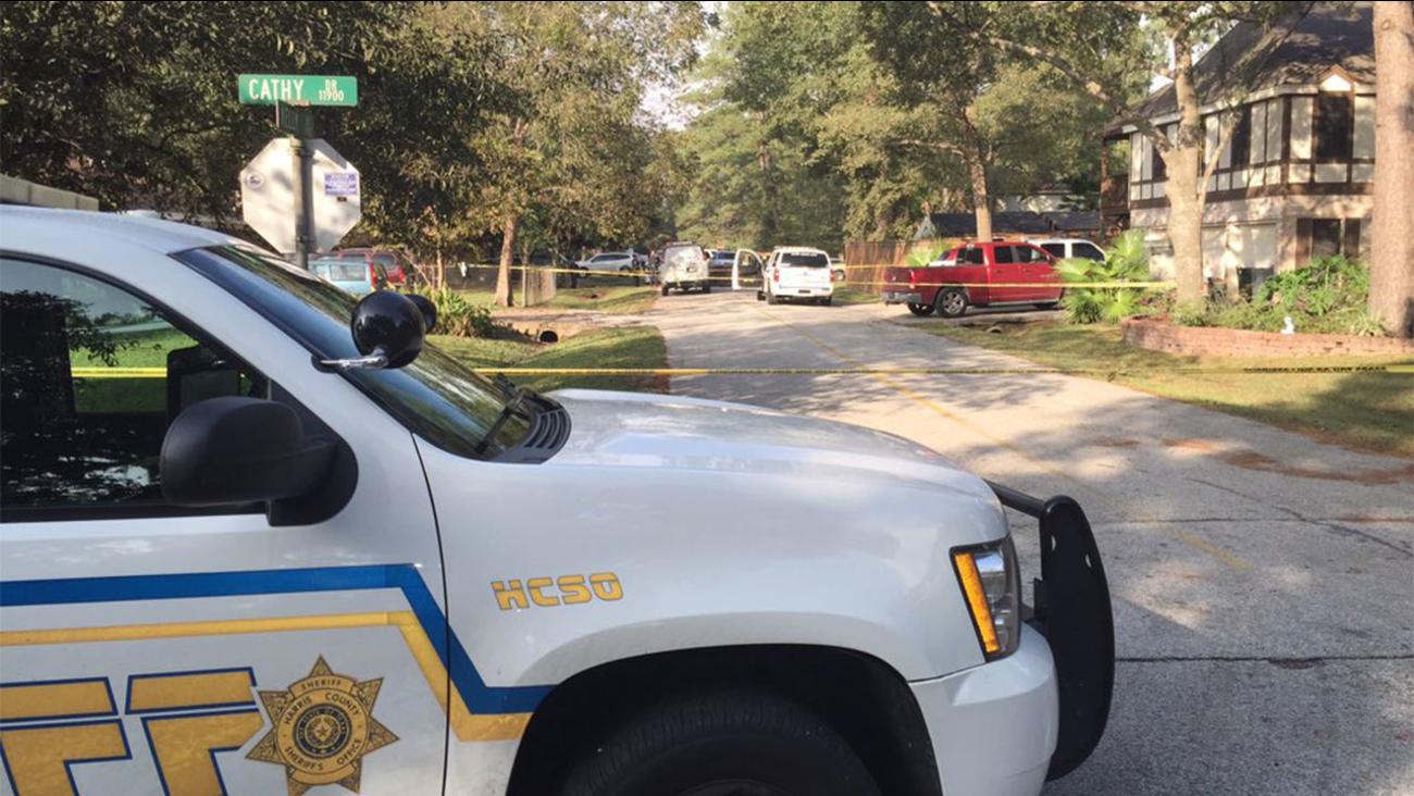 Shooting scene in northwest Harris county