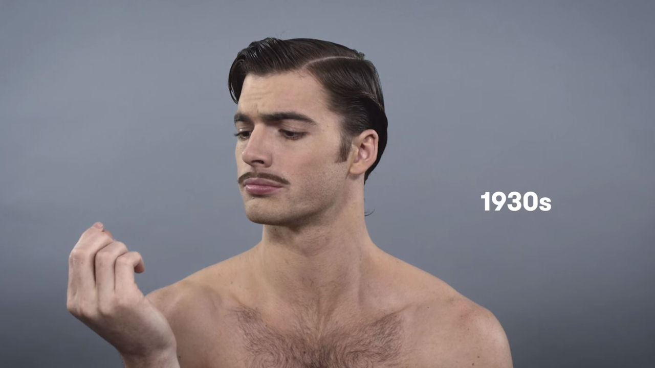 See 100 Years Of Male Beauty For Movember Mens Health Month