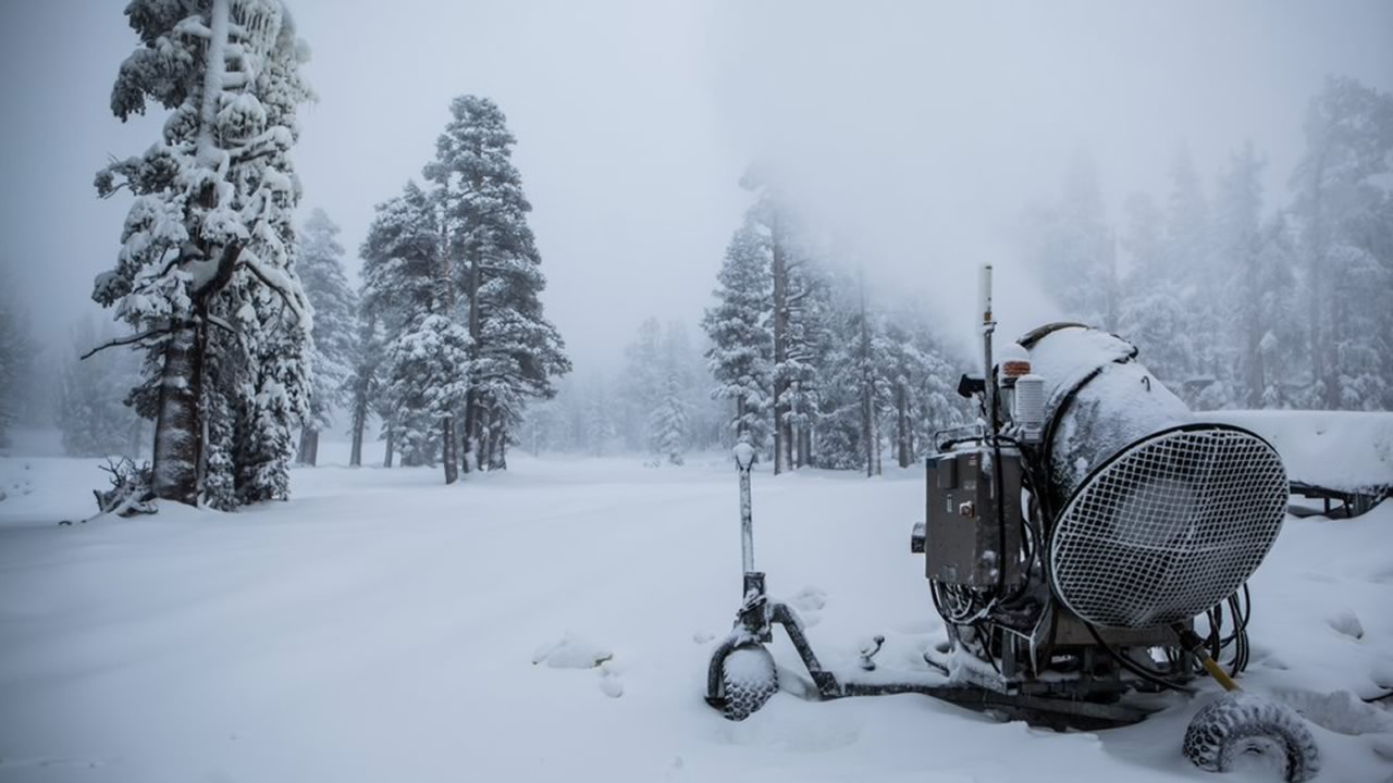 This photo from Tuesday, November 3, 2015 shows snow at Heavenly Mountain Resort in South Lake Tahoe, Calif.