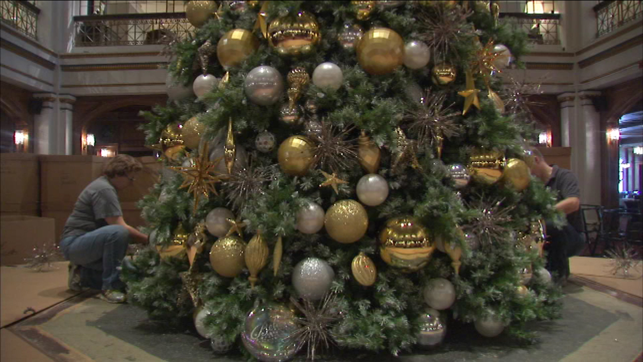 Macys Christmas Tree.Christmas Tree Goes Up At Macy S Walnut Room Abc7chicago Com