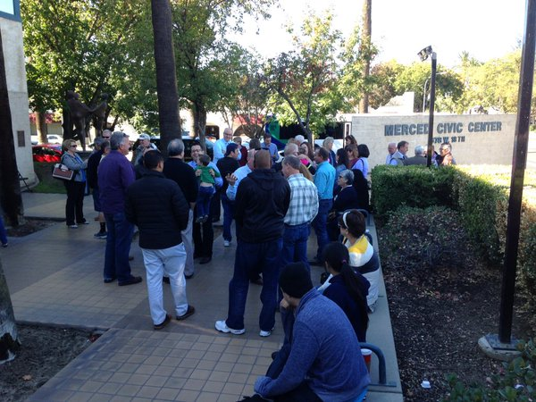 """<div class=""""meta image-caption""""><div class=""""origin-logo origin-image none""""><span>none</span></div><span class=""""caption-text"""">In this image, a group has gathered at Merced City Hall for a prayer vigil after a man allegedly stabbed four people at UC Merced, on Wednesday, November 4, 2015. (@Sag123/Twitter)</span></div>"""