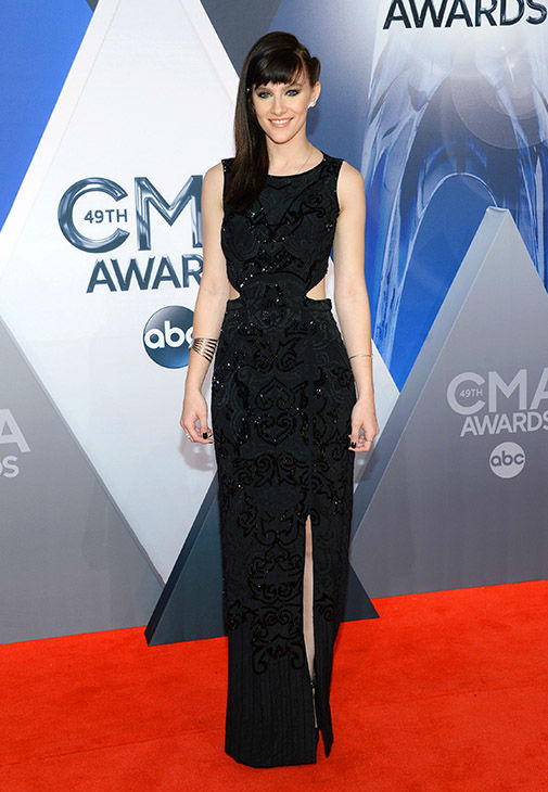 <div class='meta'><div class='origin-logo' data-origin='none'></div><span class='caption-text' data-credit='Evan Agostini/Invision/AP'>Aubrey Peeples arrives at the 49th annual CMA Awards at the Bridgestone Arena on Wednesday, Nov. 4, 2015, in Nashville, Tenn.</span></div>