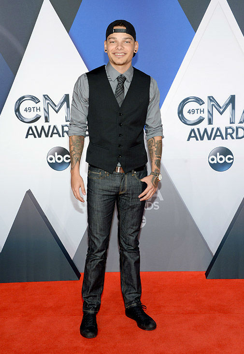 <div class='meta'><div class='origin-logo' data-origin='none'></div><span class='caption-text' data-credit='Evan Agostini/Invision/AP'>Kane Brown arrives at the 49th annual CMA Awards at the Bridgestone Arena on Wednesday, Nov. 4, 2015, in Nashville, Tenn.</span></div>