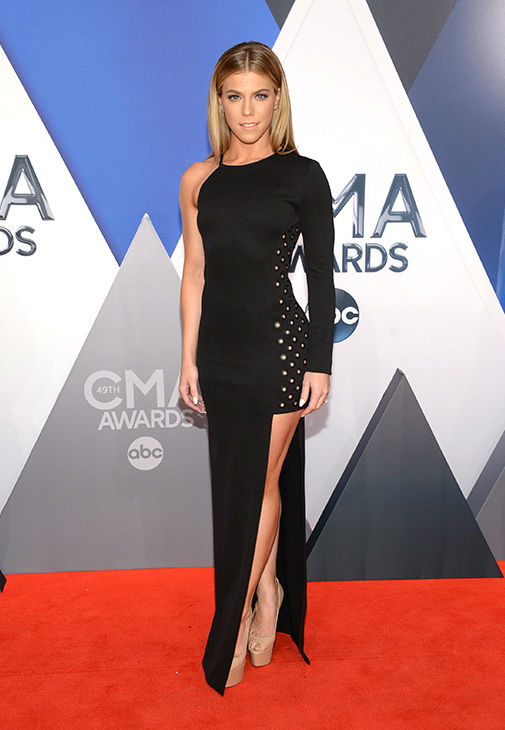 <div class='meta'><div class='origin-logo' data-origin='none'></div><span class='caption-text' data-credit='Evan Agostini/Invision/AP'>Kimberly Perry, of The Band Perry, arrives at the 49th annual CMA Awards at the Bridgestone Arena on Wednesday, Nov. 4, 2015, in Nashville, Tenn.</span></div>