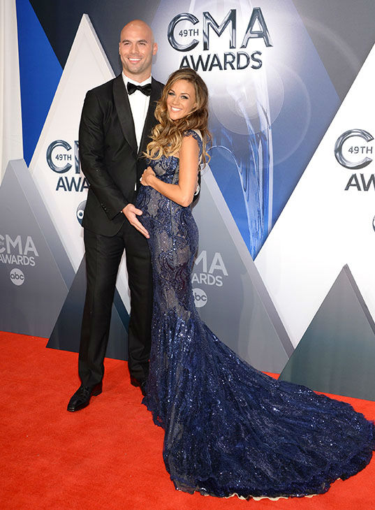 <div class='meta'><div class='origin-logo' data-origin='none'></div><span class='caption-text' data-credit='Evan Agostini/Invision/AP'>Mike Caussin, left, and Jana Kramer arrive at the 49th annual CMA Awards at the Bridgestone Arena on Wednesday, Nov. 4, 2015, in Nashville, Tenn.</span></div>