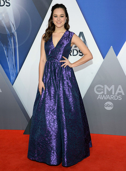 <div class='meta'><div class='origin-logo' data-origin='none'></div><span class='caption-text' data-credit='Evan Agostini/Invision/AP'>Hayley Orrantia arrives at the 49th annual CMA Awards at the Bridgestone Arena on Wednesday, Nov. 4, 2015, in Nashville, Tenn.</span></div>