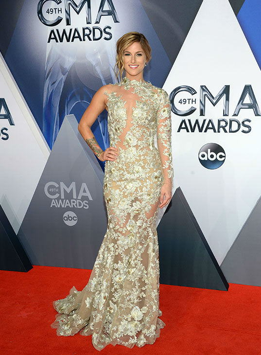 <div class='meta'><div class='origin-logo' data-origin='none'></div><span class='caption-text' data-credit='Evan Agostini/Invision/AP'>Cassadee Pope arrives at the 49th annual CMA Awards at the Bridgestone Arena on Wednesday, Nov. 4, 2015, in Nashville, Tenn.</span></div>