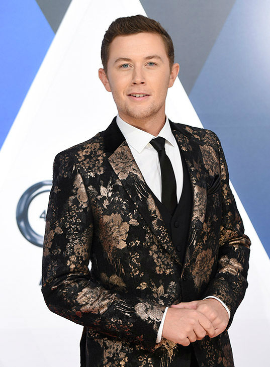 <div class='meta'><div class='origin-logo' data-origin='none'></div><span class='caption-text' data-credit='Evan Agostini/Invision/AP'>Scotty McCreery arrives at the 49th annual CMA Awards at the Bridgestone Arena on Wednesday, Nov. 4, 2015, in Nashville, Tenn.</span></div>