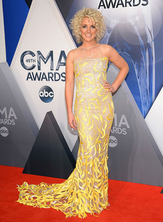 <div class='meta'><div class='origin-logo' data-origin='none'></div><span class='caption-text' data-credit='Evan Agostini/Invision/AP'>Cam arrives at the 49th annual CMA Awards at the Bridgestone Arena on Wednesday, Nov. 4, 2015, in Nashville, Tenn.</span></div>