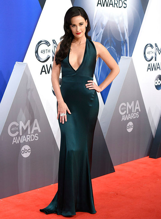 <div class='meta'><div class='origin-logo' data-origin='none'></div><span class='caption-text' data-credit='Evan Agostini/Invision/AP'>Kacey Musgraves arrives at the 49th annual CMA Awards at the Bridgestone Arena on Wednesday, Nov. 4, 2015, in Nashville, Tenn.</span></div>