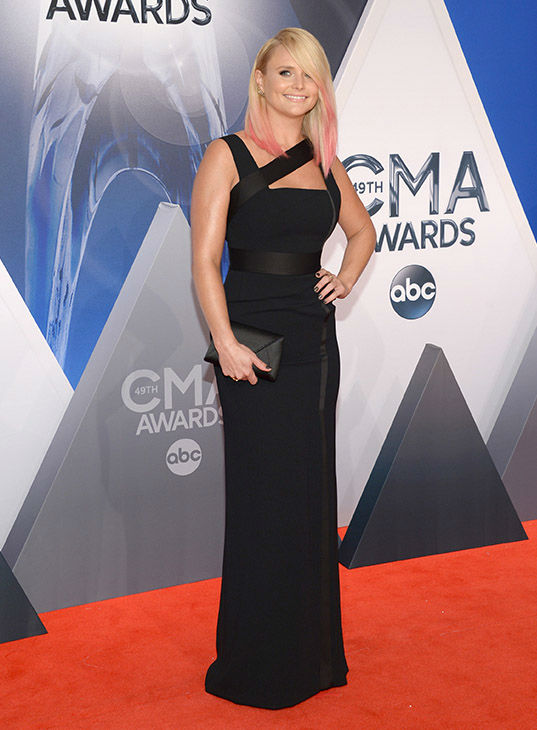 <div class='meta'><div class='origin-logo' data-origin='none'></div><span class='caption-text' data-credit='Evan Agostini/Invision/AP'>Miranda Lambert arrives at the 49th annual CMA Awards at the Bridgestone Arena on Wednesday, Nov. 4, 2015, in Nashville, Tenn.</span></div>